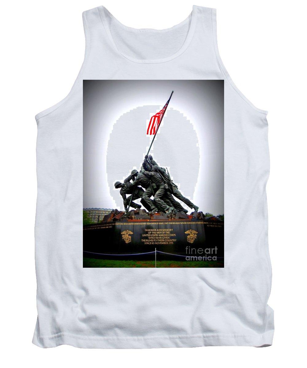 Iwo Jima Memorial Tank Top featuring the photograph Iwo Jima Memorial by Ed Weidman