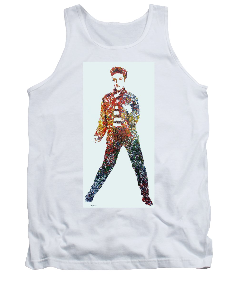 Elvis Tank Top featuring the painting Jailhouse Rock by Gary Hogben