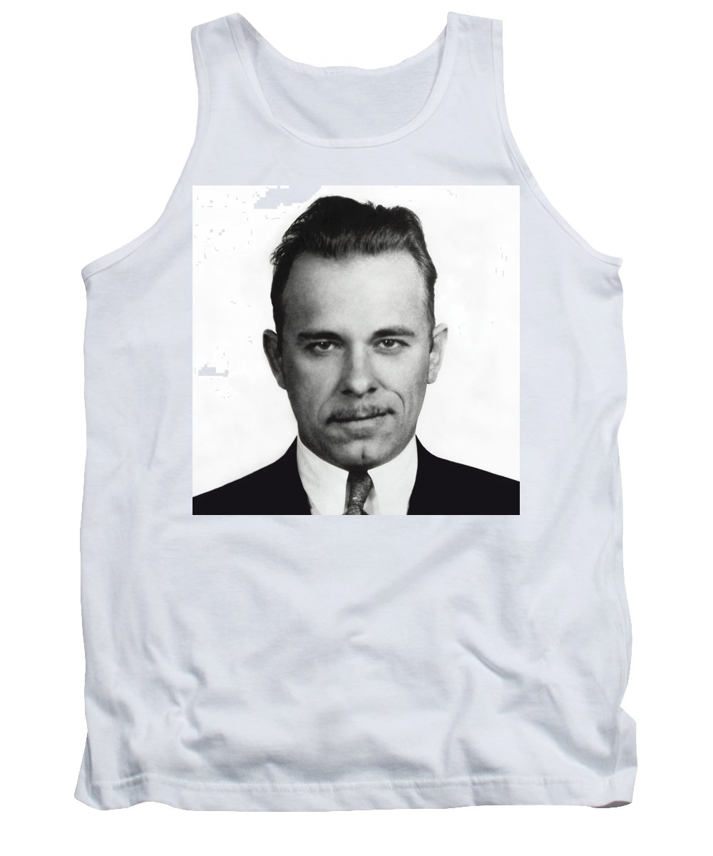 Dillinger Tank Top featuring the photograph John Dillinger Mugshot by Daniel Hagerman