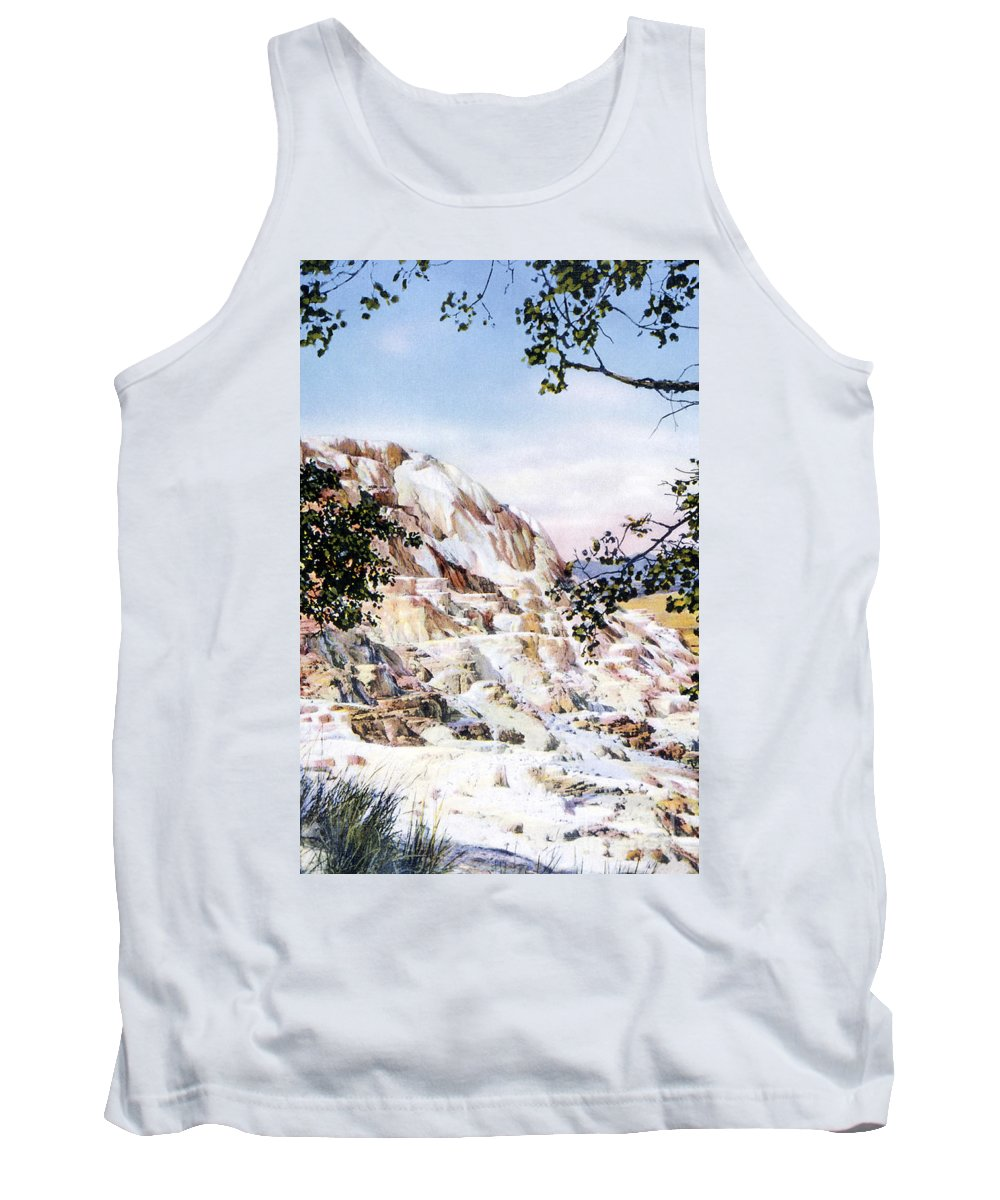 Jupiter Terrace Tank Top featuring the photograph Jupiter Terrace Yellowstone Np by NPS Photo Frank J Haynes