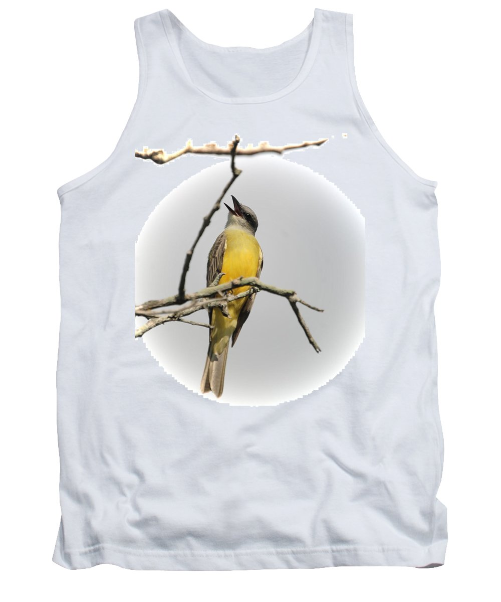 Bird Tank Top featuring the photograph Kb Singing by Leticia Latocki