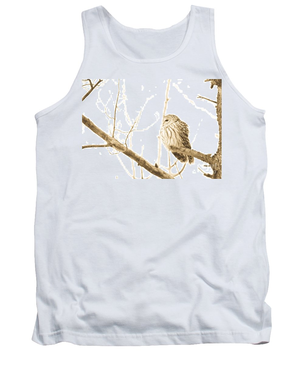 Owls Tank Top featuring the photograph Keeping Watch by Cheryl Baxter