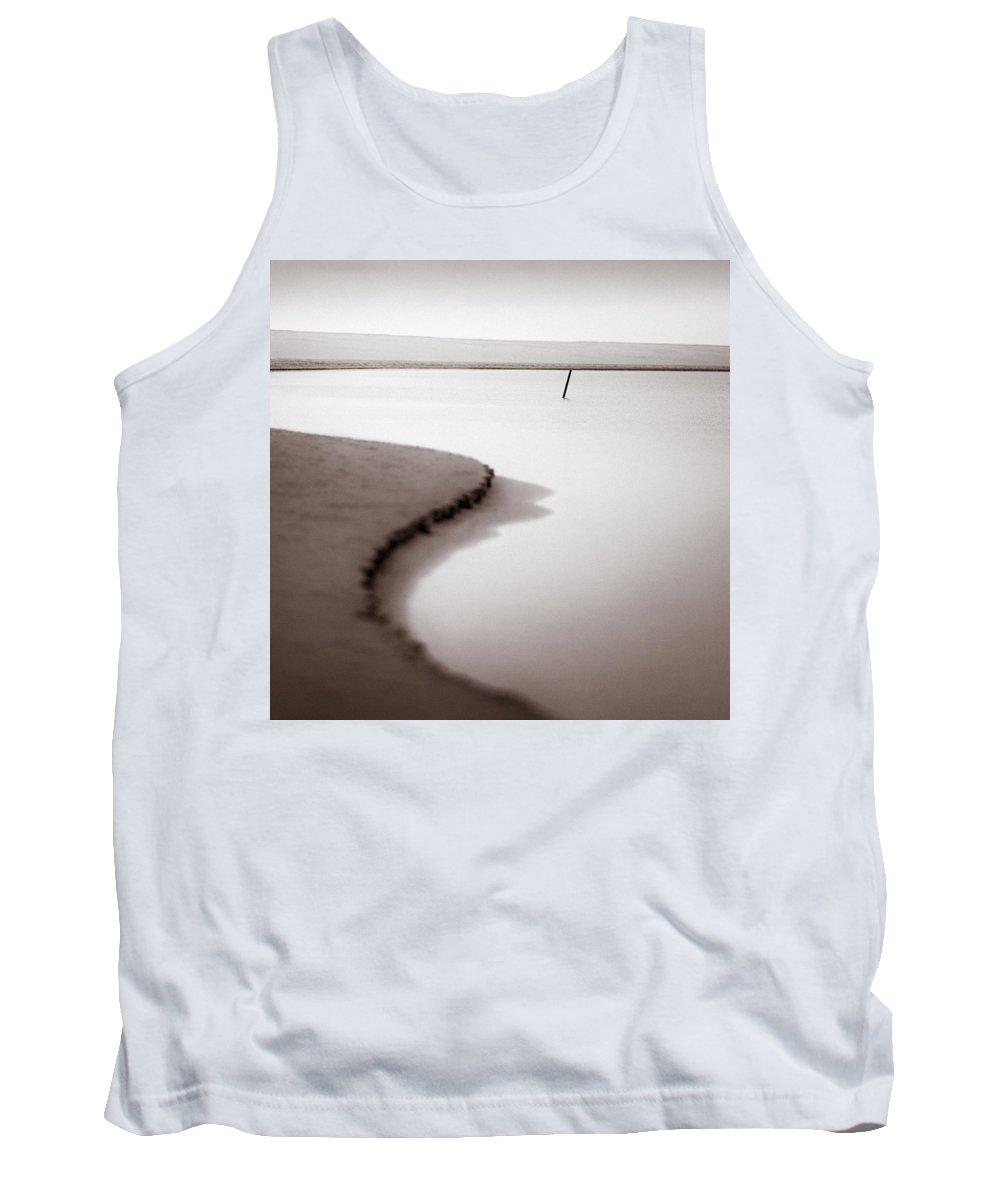Kijkduin Tank Top featuring the photograph Kijkduin Beach by Dave Bowman