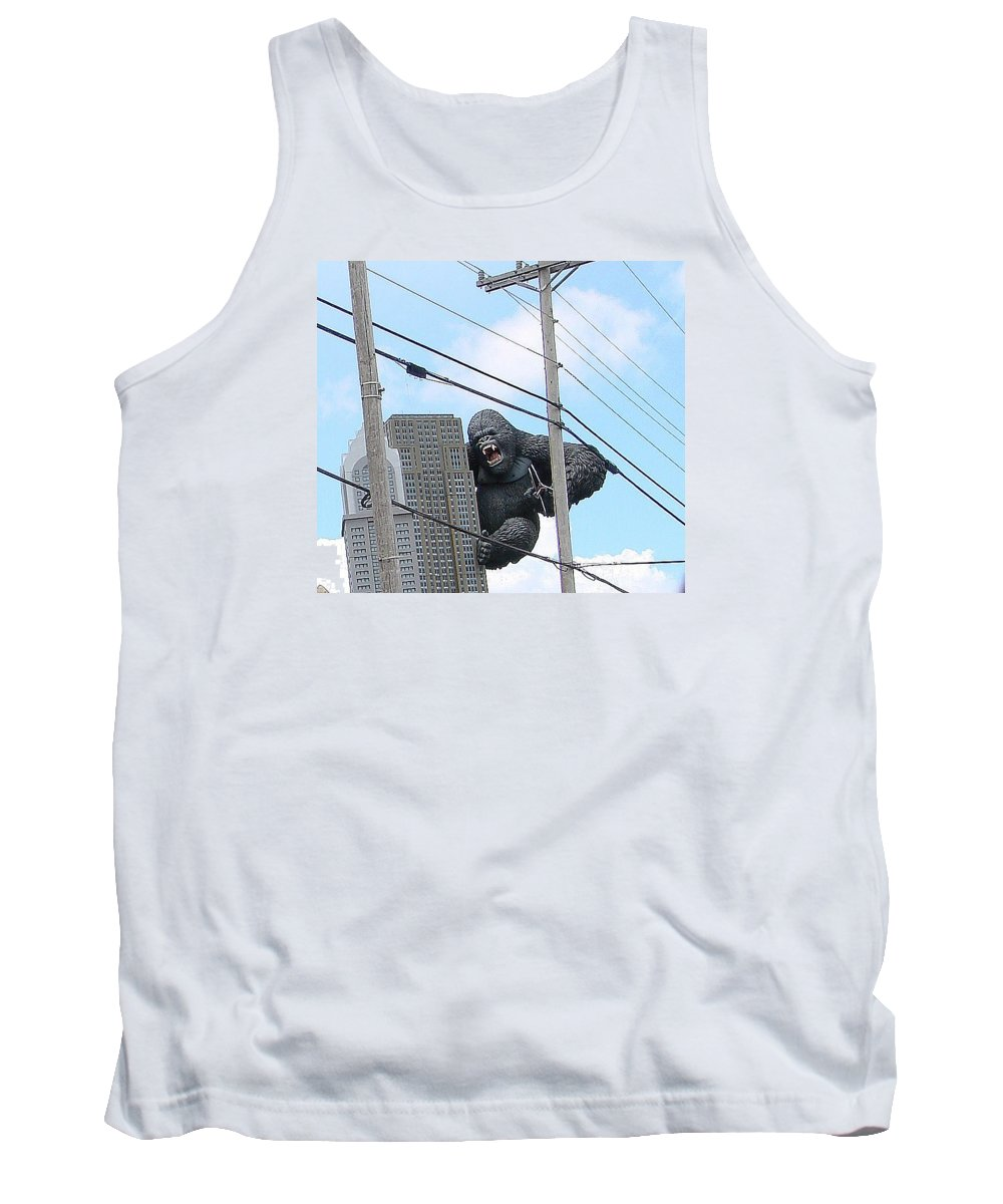 Gorillas Tank Top featuring the photograph King Kong by Mary Halpin