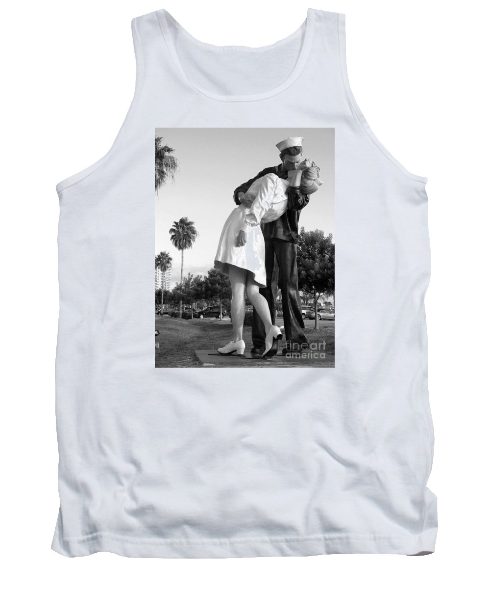 Art Tank Top featuring the photograph Kissing Sailor And Nurse by Christiane Schulze Art And Photography