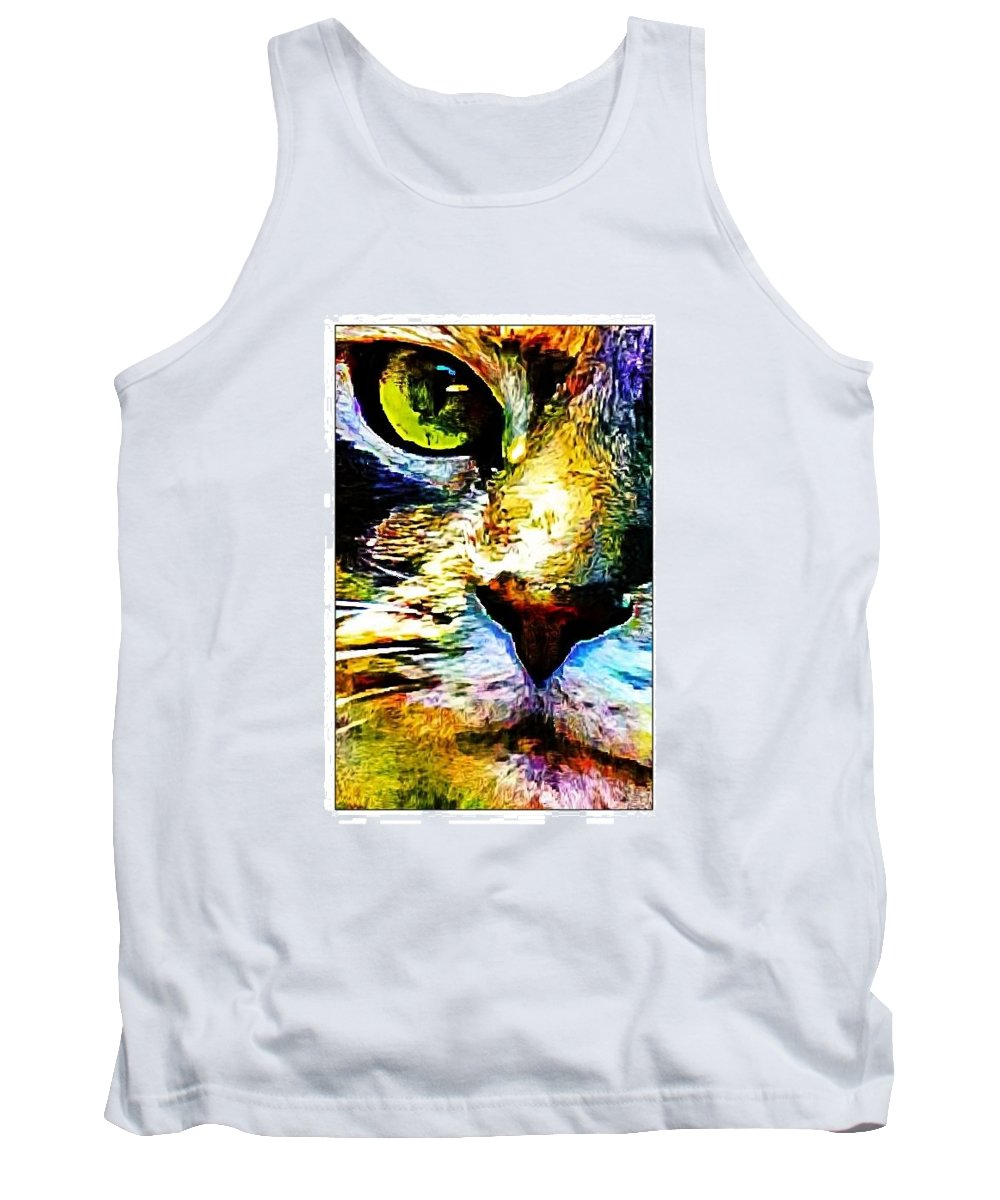 Cat Tank Top featuring the photograph Kitty Nosed by Alice Gipson
