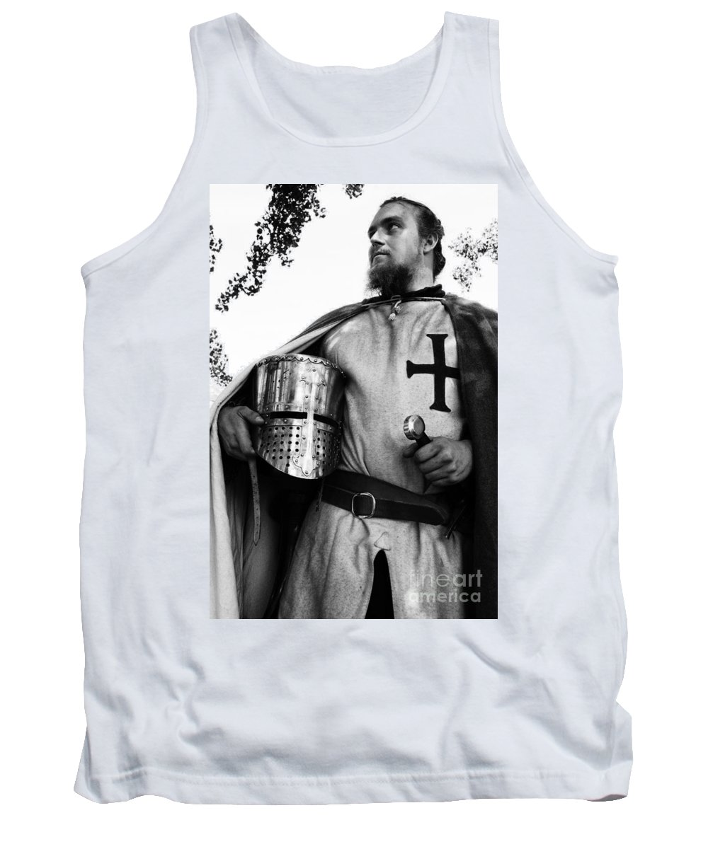 Knight In Shining Armour Tank Top featuring the photograph Knight 3 by Bob Christopher