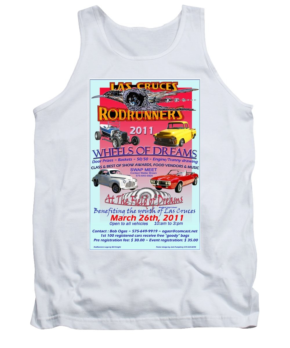 Framed Posters And Prints Of Car Shows Tank Top featuring the photograph L C Rodrunner Car Show Poster by Jack Pumphrey