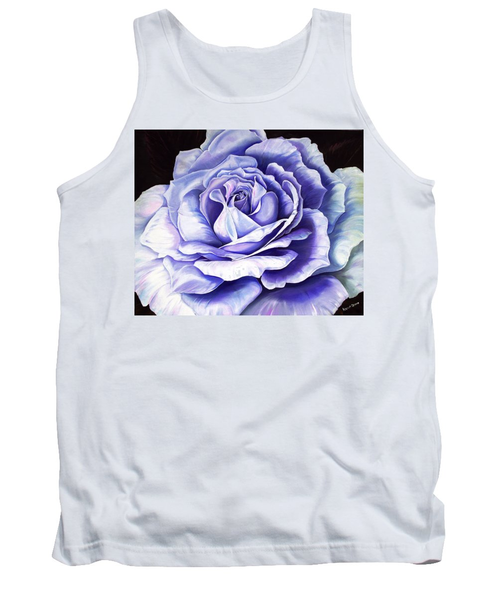 Purple Rose Tank Top featuring the painting La Bella Rosa Purple by Karin Dawn Kelshall- Best