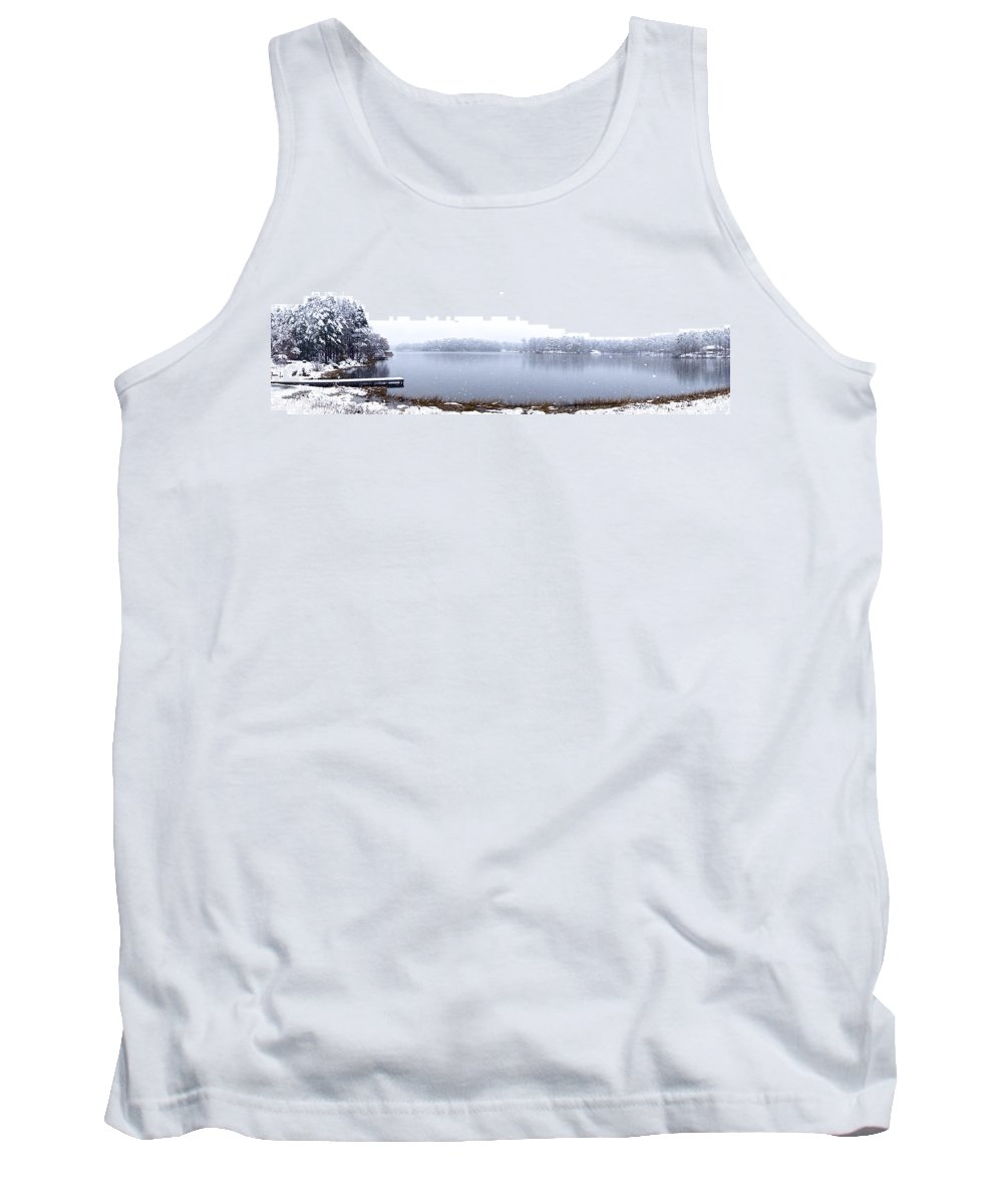 Lake Tank Top featuring the photograph Lakeside In The Winter Snow by Charlie and Norma Brock