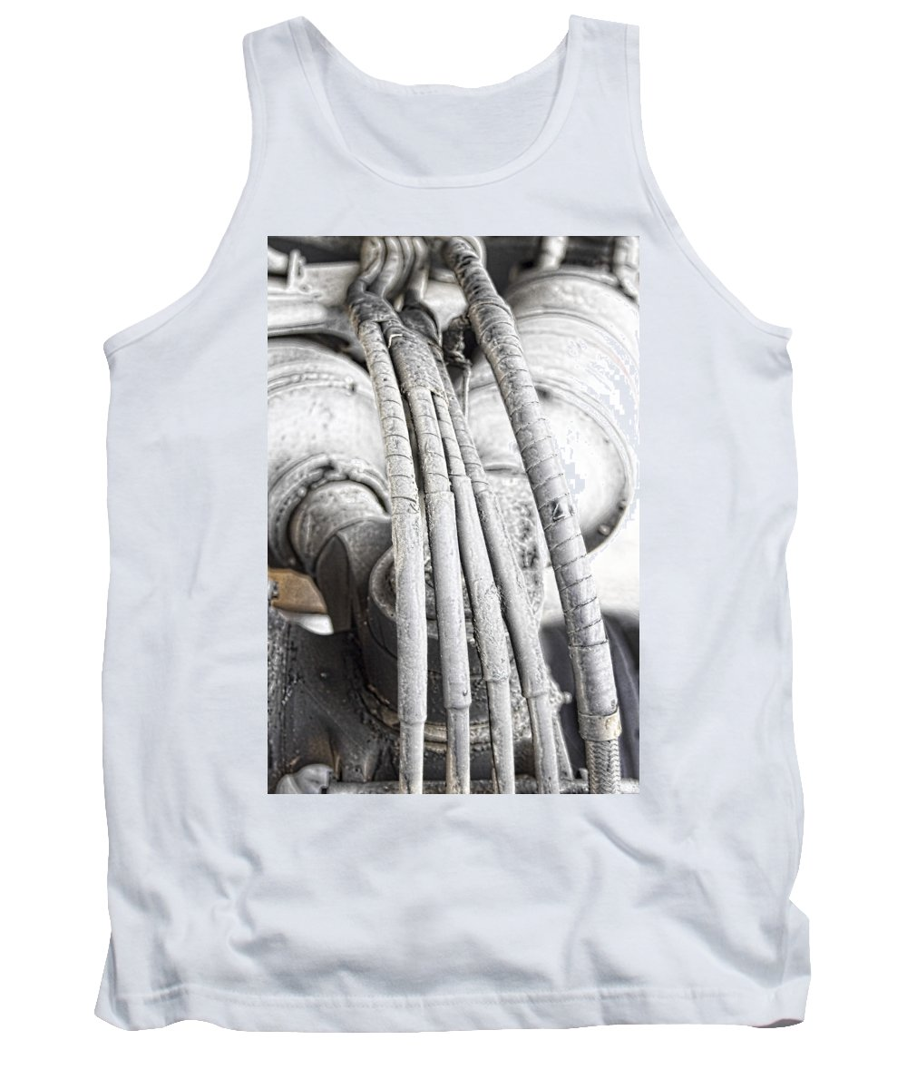 Tank Top featuring the photograph Landing Gear by Cathy Anderson