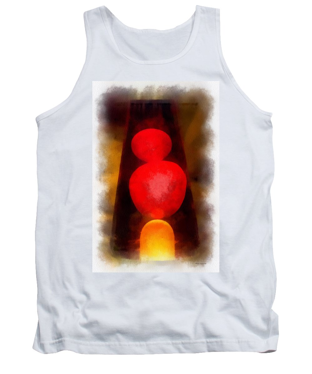 Lava Lamp Tank Top featuring the photograph Lava Lamp Photo Art 04 by Thomas Woolworth