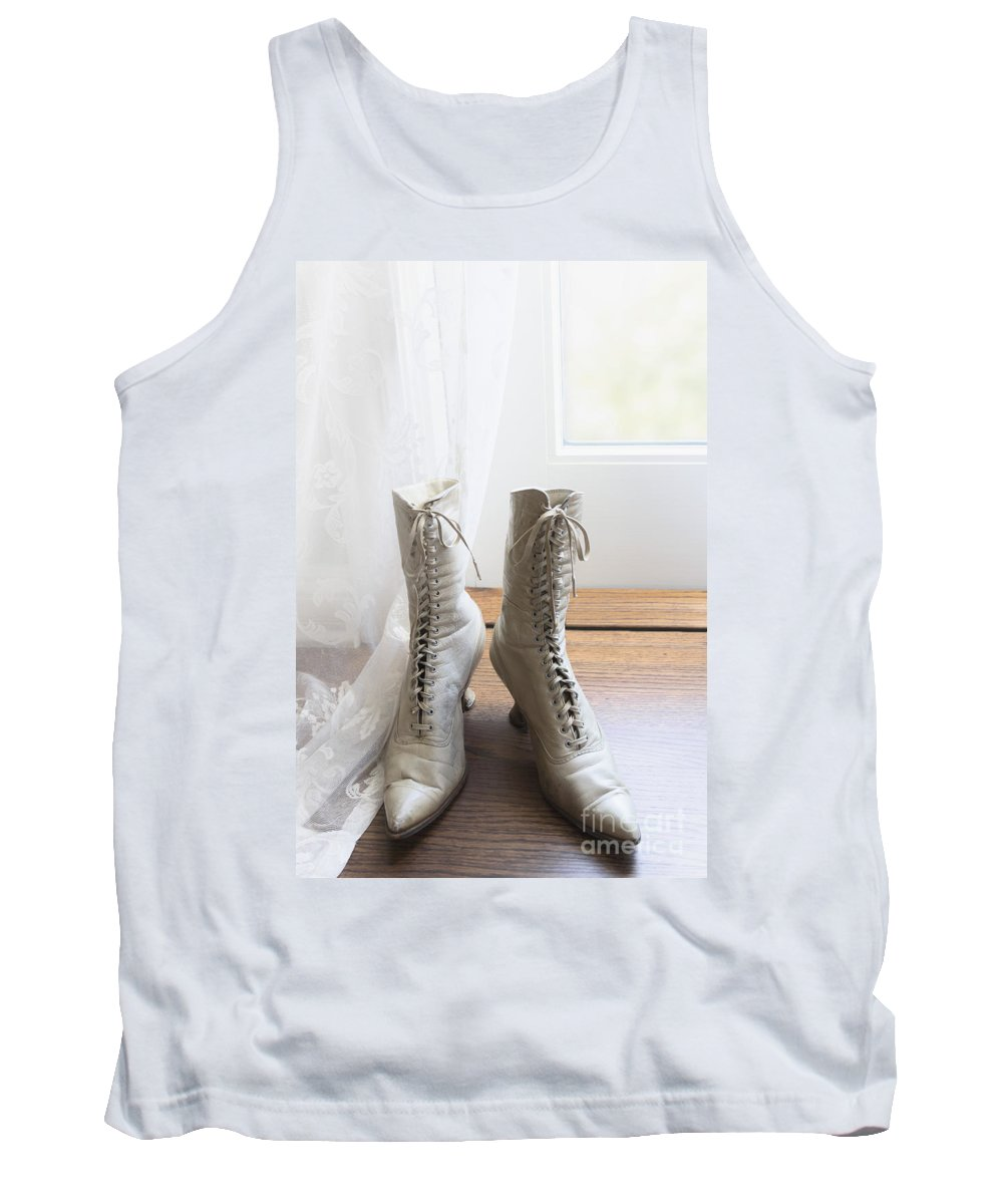 Boots Tank Top featuring the photograph Left By The Door by Margie Hurwich