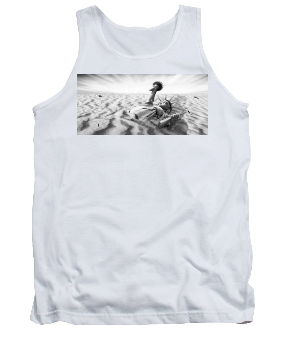 Surrealism Tank Top featuring the photograph Liberty Park II Panoramic by Mike McGlothlen