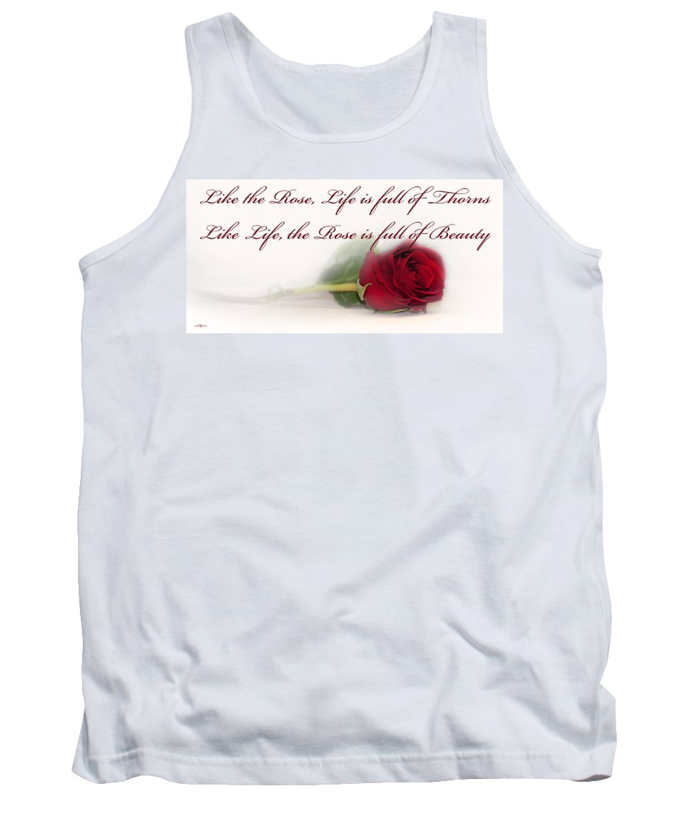 Like The Rose Tank Top featuring the photograph Like The Rose by Mechala Matthews