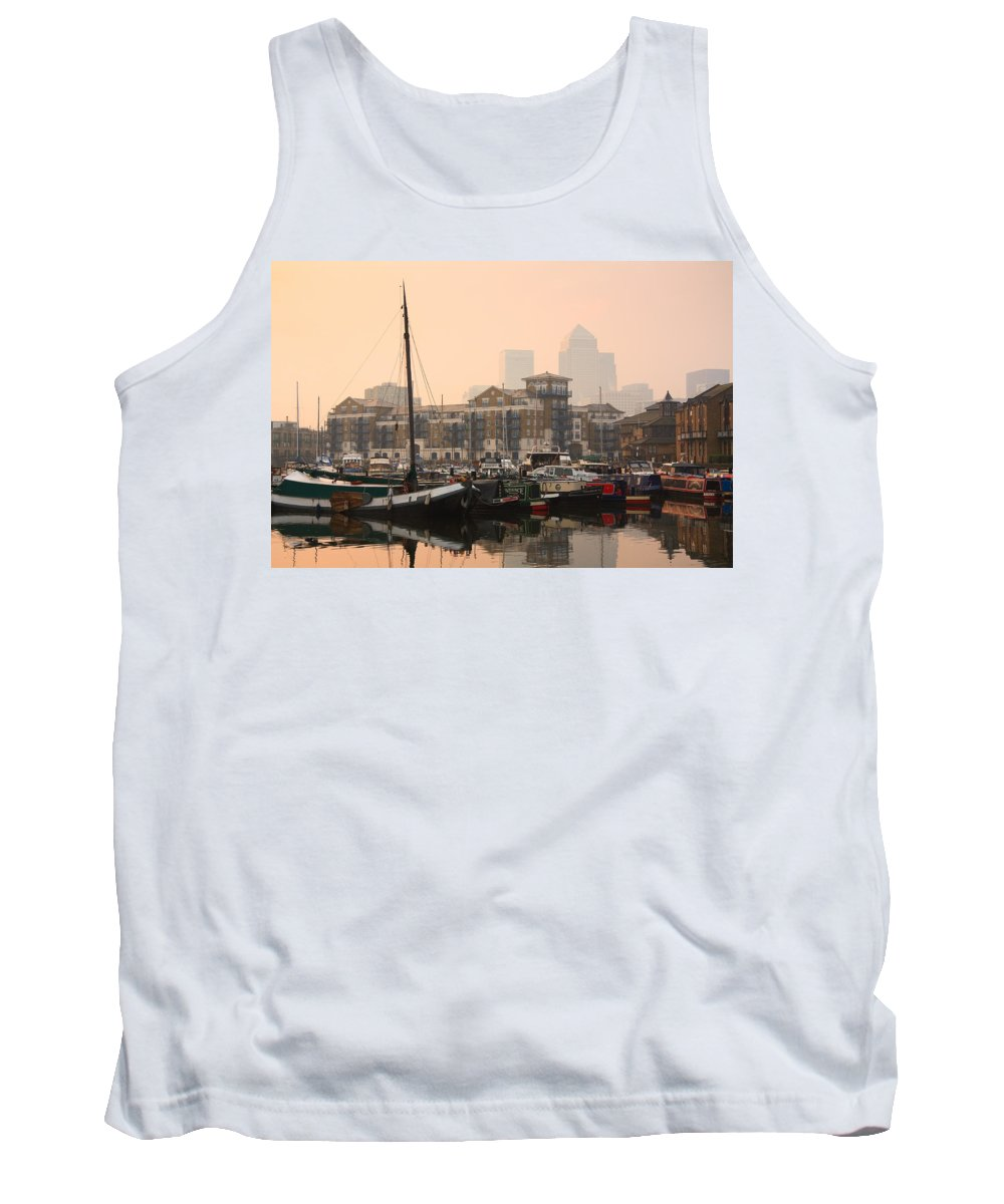 Great Britain Tank Top featuring the photograph Limehouse Basin In London. by Milan Gonda