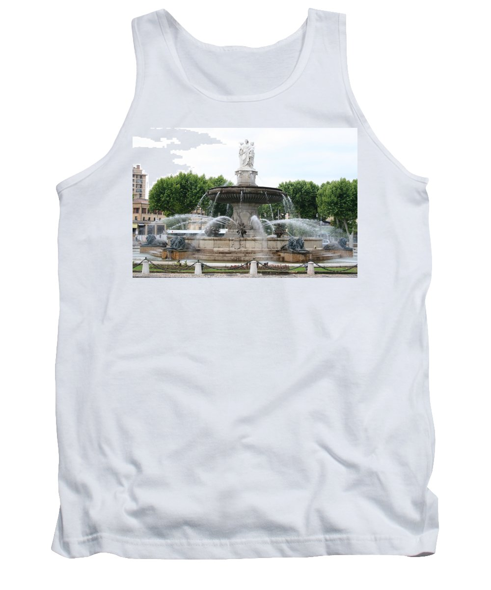 Fountain Tank Top featuring the photograph Lion Fountain - Aix En Provence by Christiane Schulze Art And Photography