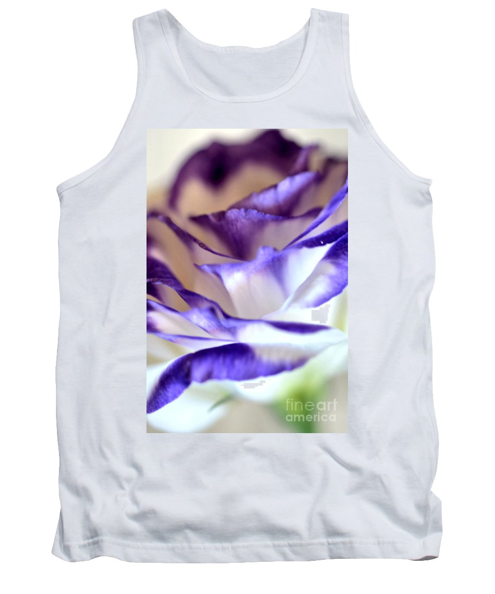White Blue Violet Lisianthus Tank Top featuring the photograph Lisianthus by Deb Halloran