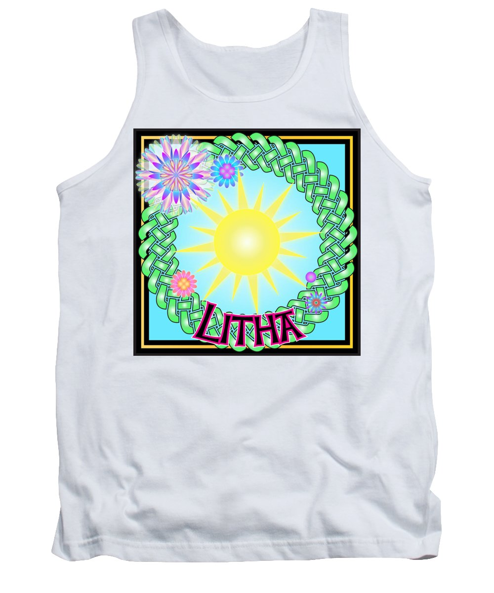 Litha Tank Top featuring the digital art Litha Festival by Ireland Calling