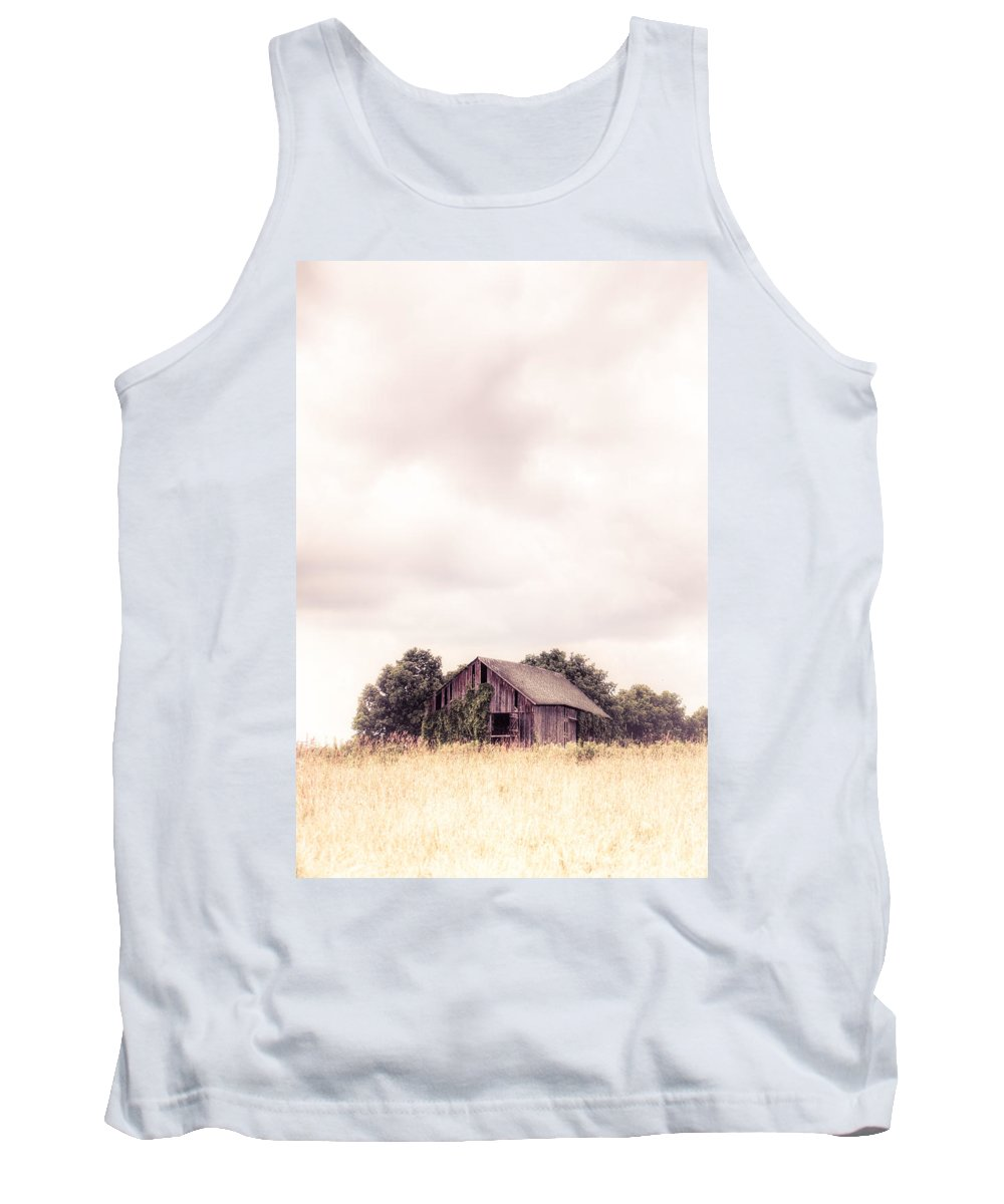 Barn Tank Top featuring the photograph Little Old Barn In The Field - Ontario County New York State by Gary Heller