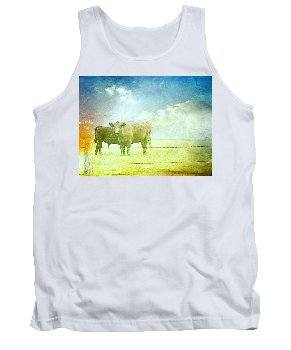 Animals Tank Top featuring the photograph Live Stock by Candee Lucas