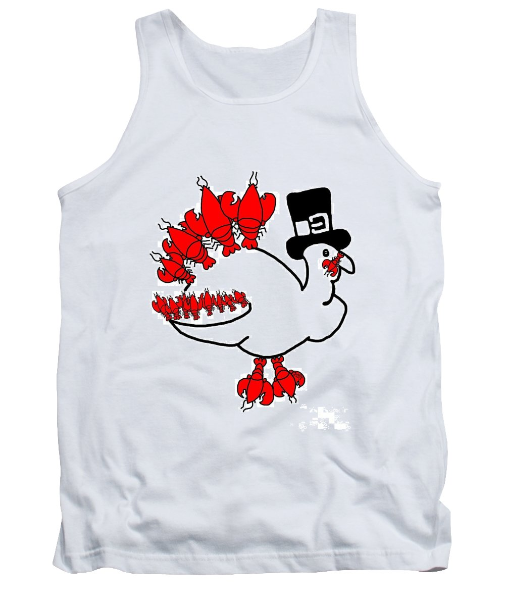 Lobster Turkey Tank Top featuring the digital art Lobster Turkey by Julie Knapp