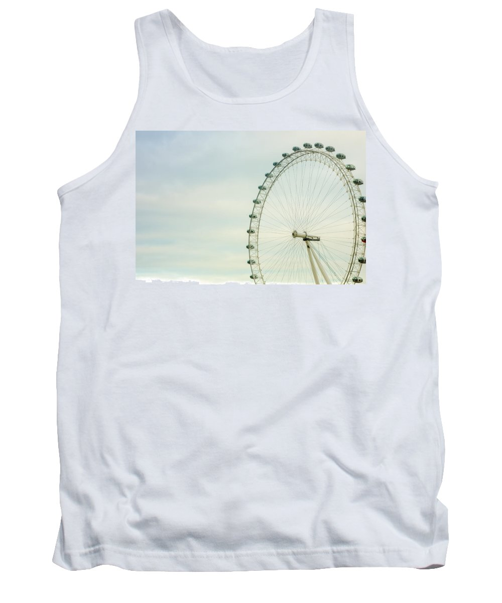 London Tank Top featuring the photograph London Eye Closeup by Pati Photography