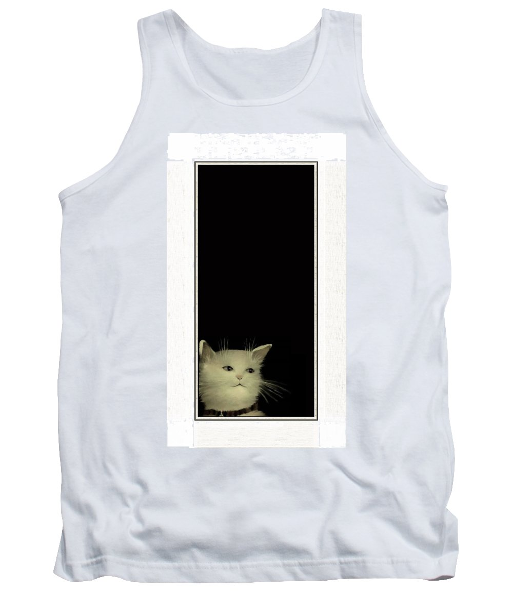 Diane Strain Tank Top featuring the painting Long In Thought by Diane Strain