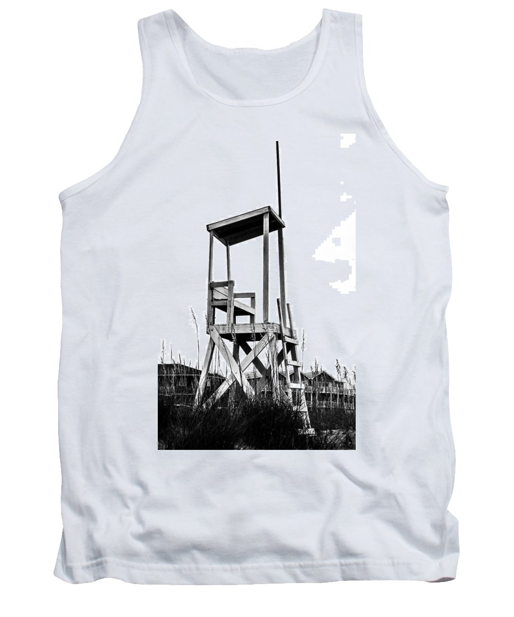 Beach Chair Tank Top featuring the photograph Look Out by Mary Hahn Ward