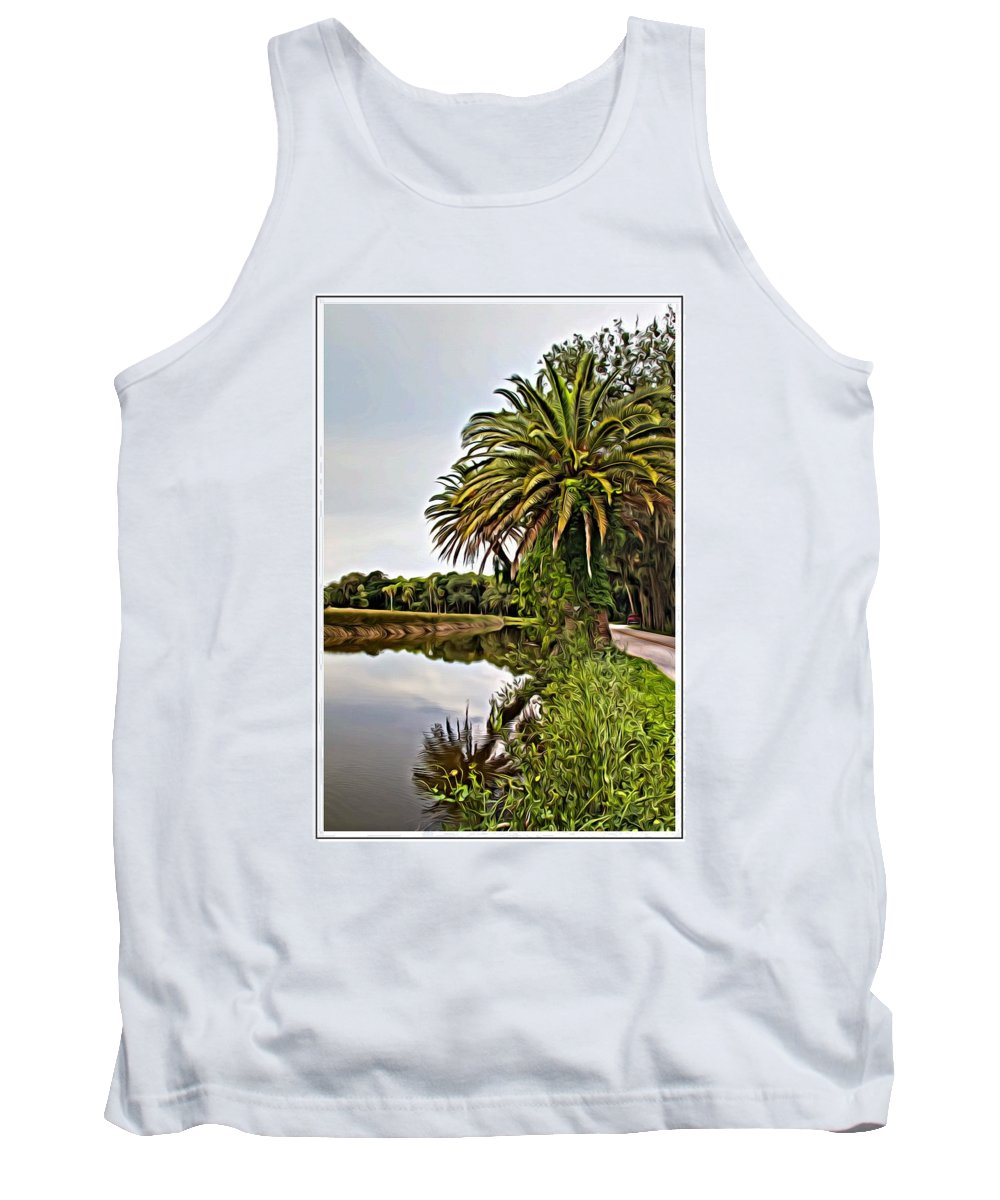 The Loop Tank Top featuring the photograph Loop Reflect by Alice Gipson