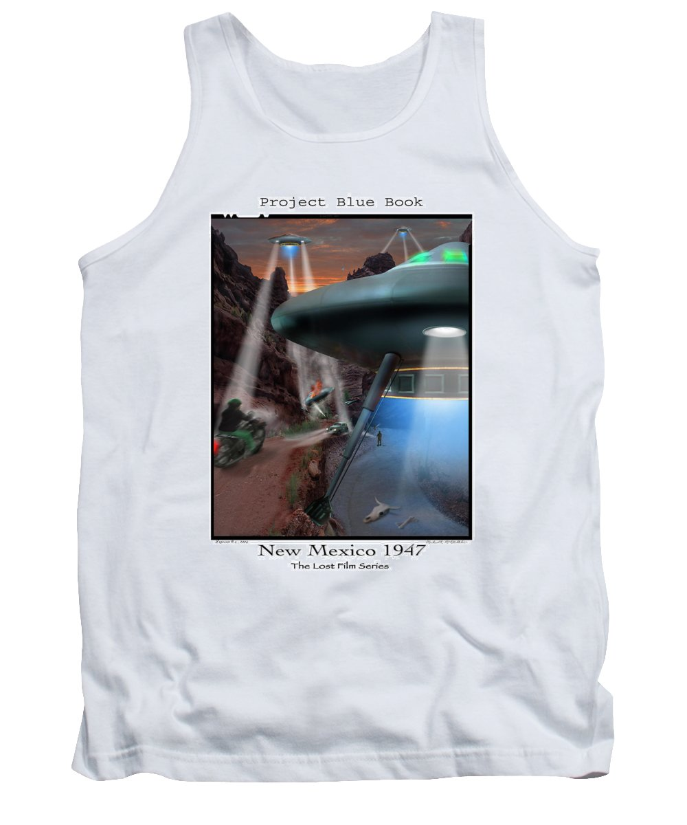 Ufo Tank Top featuring the photograph Lost Film Number 4 by Mike McGlothlen