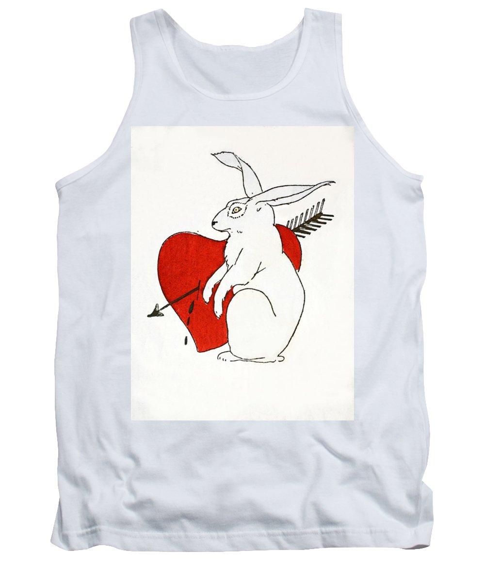 Tank Top featuring the painting Love Bunny by French School