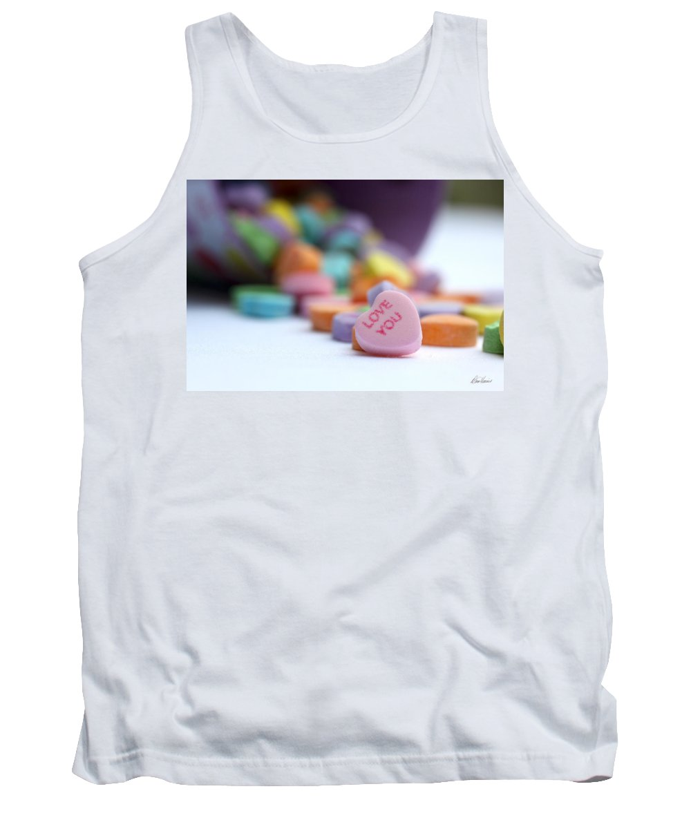 Valentines Day Tank Top featuring the photograph Love You by Diana Haronis