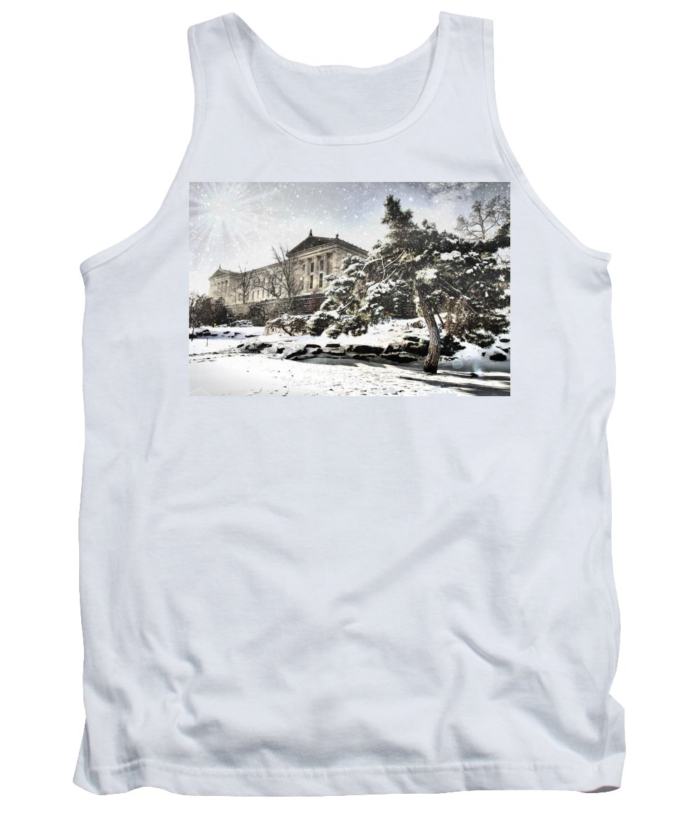Art Museum Tank Top featuring the photograph Lovely Snow On The Museum by Alice Gipson