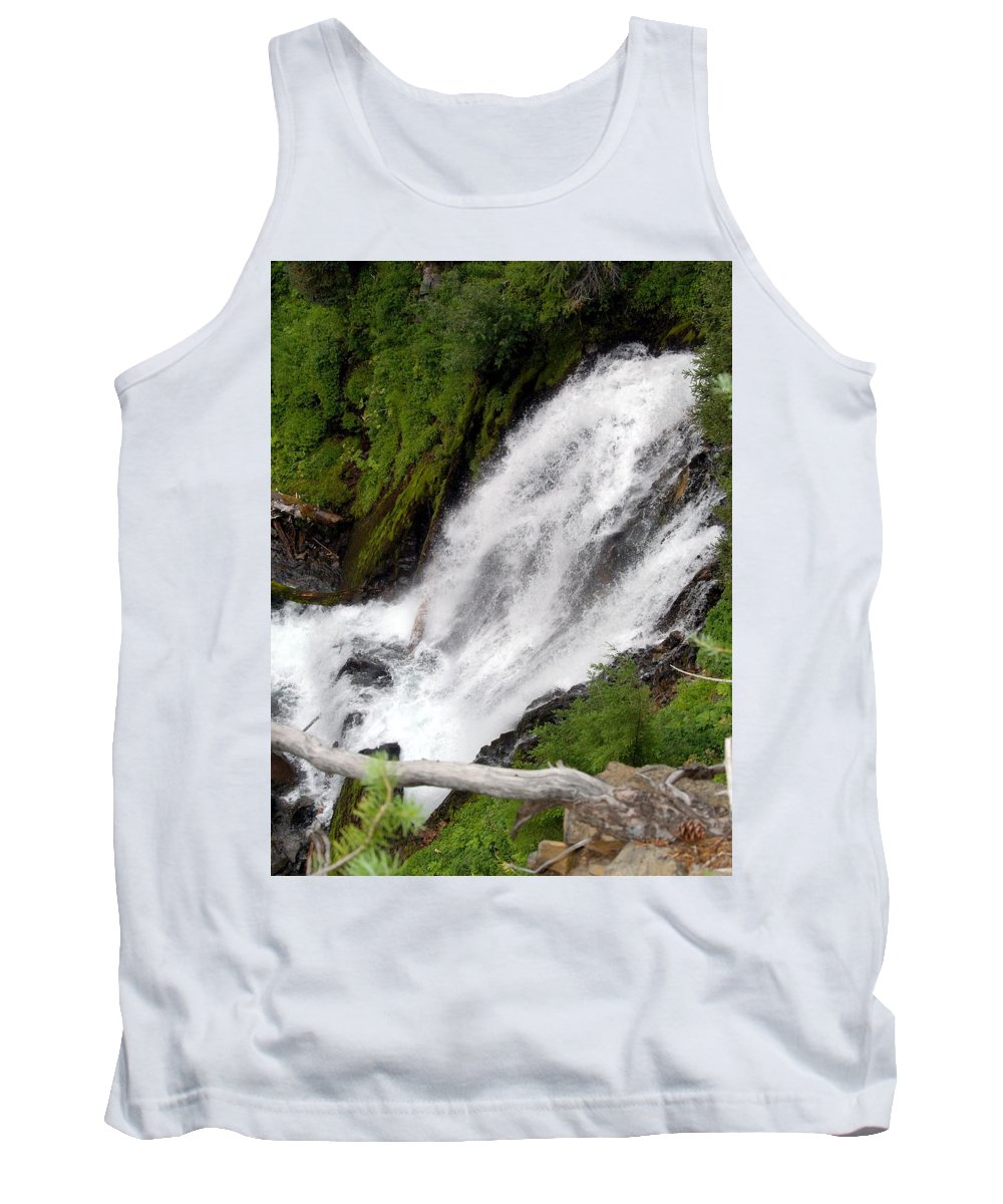 Water Tank Top featuring the photograph Lower Part Of Red Blanket Falls by Teri Schuster