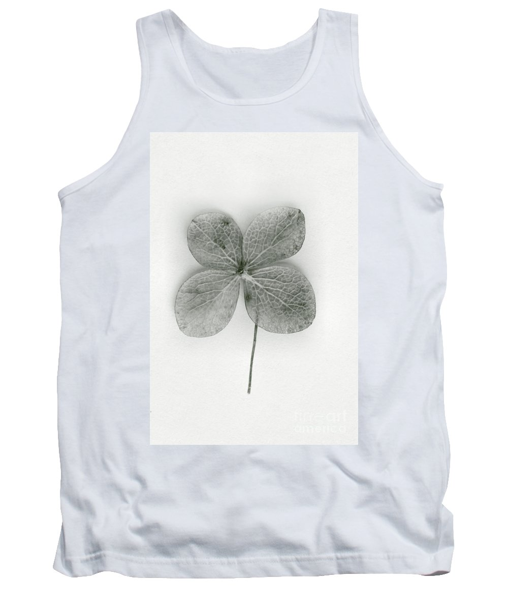 Four-leaf; Clover; Green; Leaf; Luck; Lucky; Plant; Superstition; Symbolic; Symbol; Charm; Fortune; Good Luck; Ireland; Irish; Shamrock Tank Top featuring the photograph Luck by Margie Hurwich