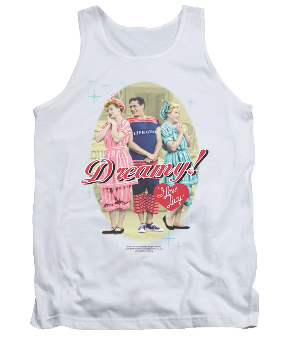 I Love Lucy Tank Top featuring the digital art Lucy - Dreamy! by Brand A