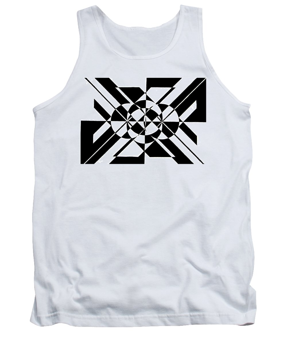 Abstract Tank Top featuring the painting Lunar City by Crystal Hubbard