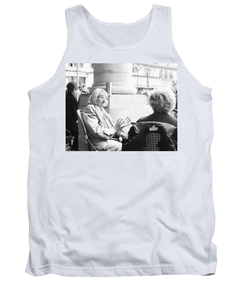 Lunch Tank Top featuring the photograph Lunch Talk by Hugh Smith