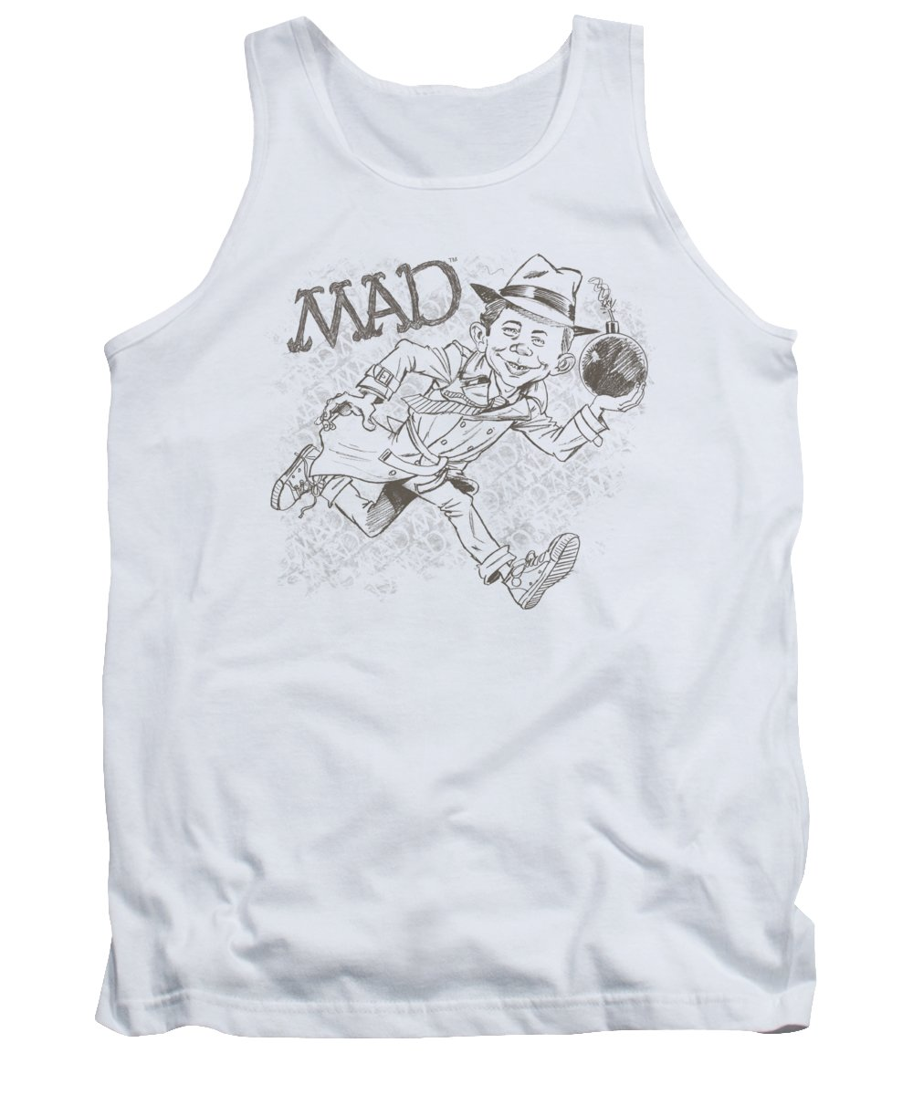Mad Magazine Tank Top featuring the digital art Mad - Sketch by Brand A