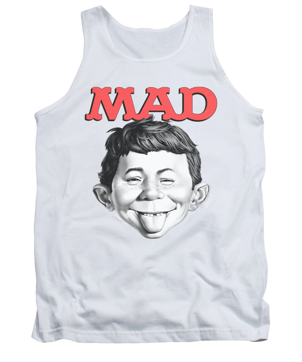 Mad Magazine Tank Top featuring the digital art Mad - U Mad by Brand A