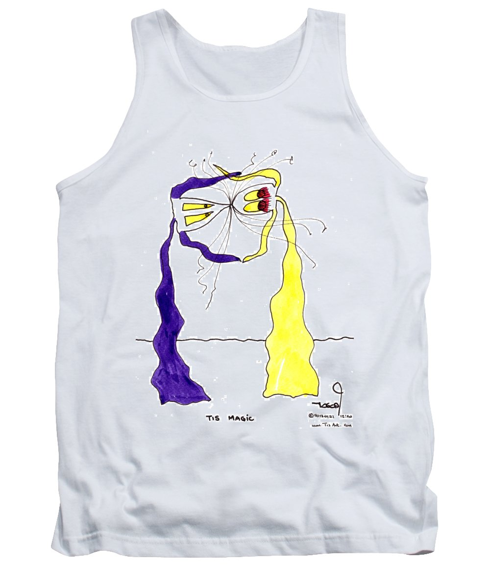 Magic Tank Top featuring the painting Magic Dancing by Tis Art