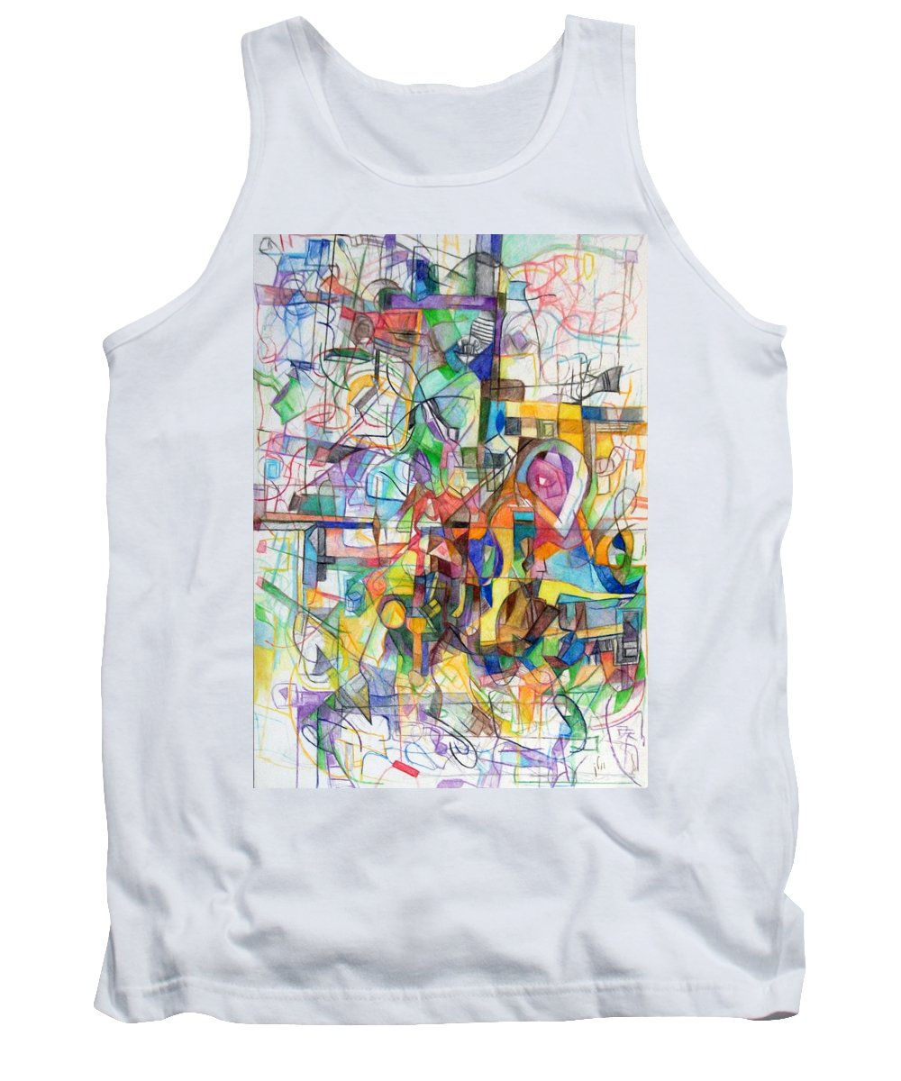 Torah Tank Top featuring the drawing Make A Fence For The Torah 1 by David Baruch Wolk