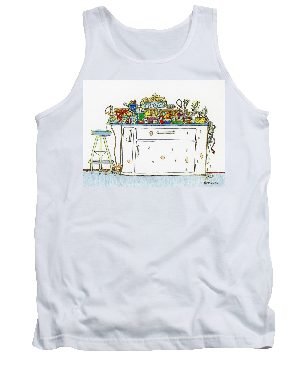 Kitchens Tank Top featuring the painting Making Cake Balls by Maggie Pringle