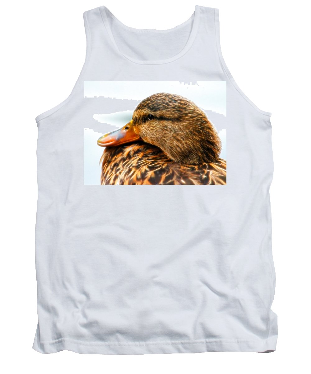 Mallard Tank Top featuring the photograph Mallard Hen Close Up by Steve McKinzie