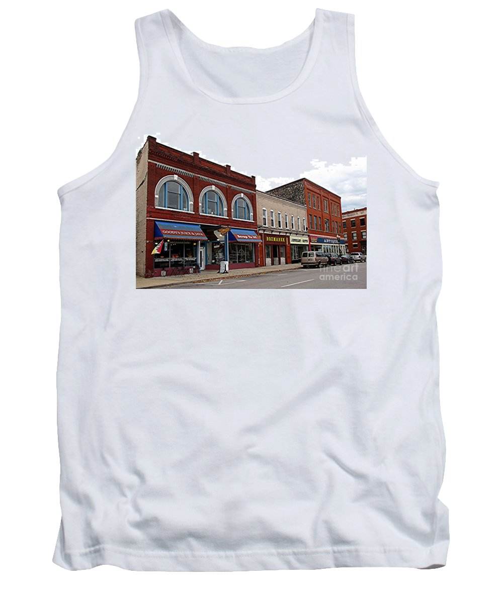 Manistee Tank Top featuring the photograph Manistee Michigan by Terri Gostola