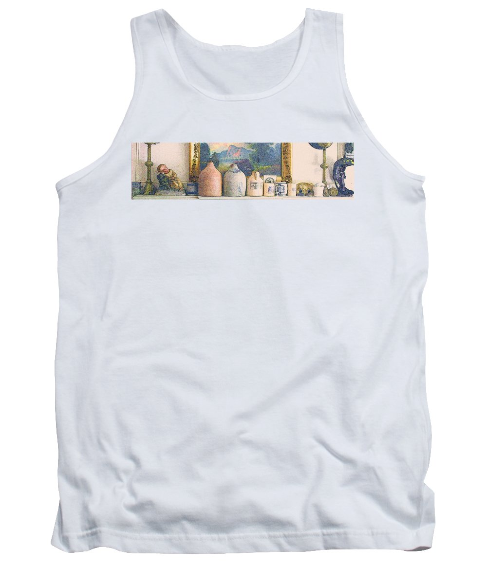 Stoneware Tank Top featuring the digital art Mantelpiece by William Sargent