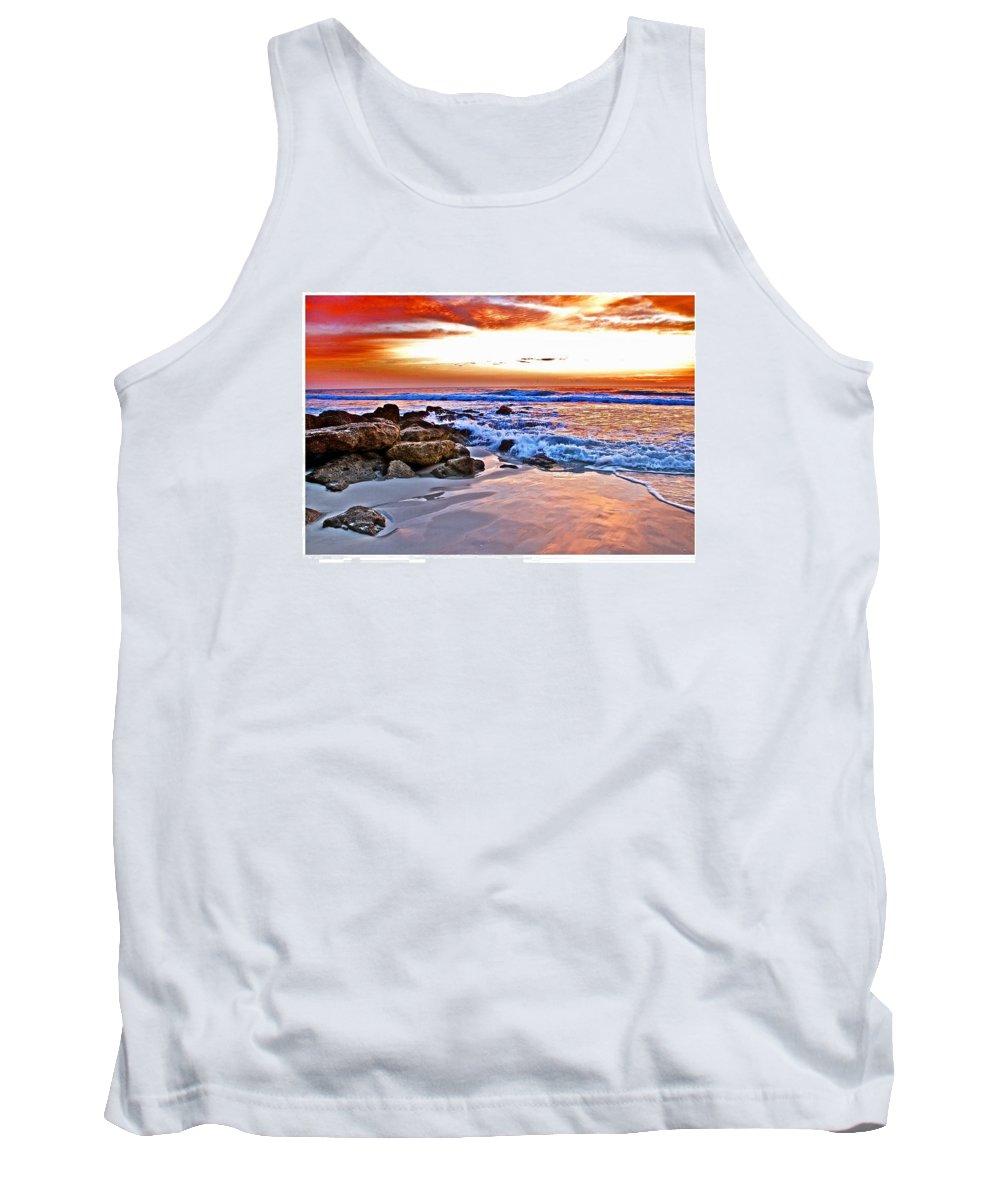 Sunrise Tank Top featuring the photograph Marineland Sunrise by Alice Gipson