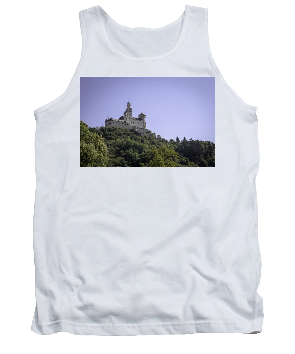 Marksburg Tank Top featuring the photograph Marksburg Castle 15 by Teresa Mucha