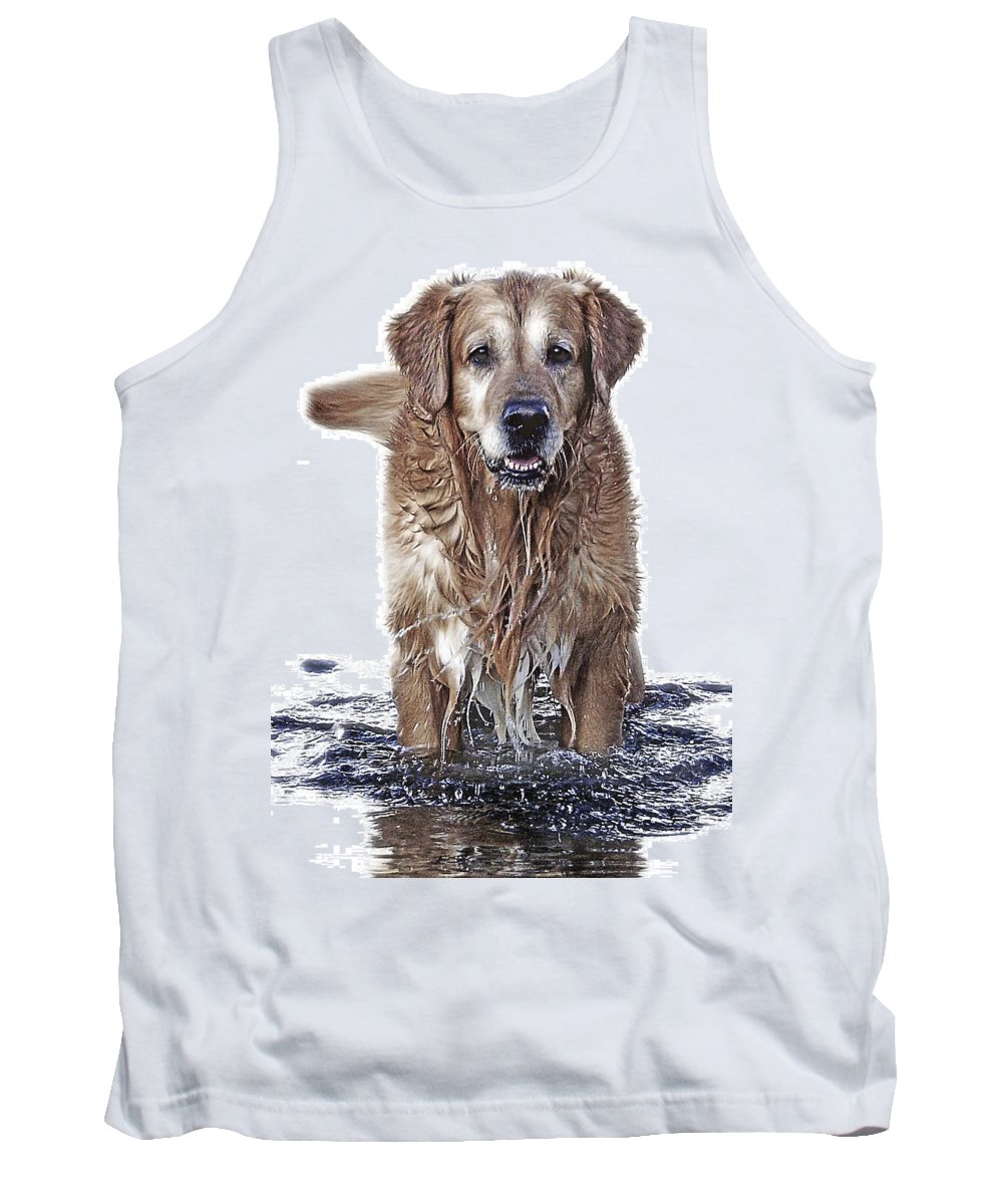 Dog Tank Top featuring the photograph Master Of Wet Elements by Joachim G Pinkawa
